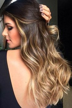 Balayage vs Ombre: Know the Difference ★ Sombre Hair, Brown Hair Balayage, Balayage Brunette, Blonde Ombre, Hair Highlights, Best Ombre Hair, Ombre Hair Color, Hair Colors, Caramel Ombre Hair