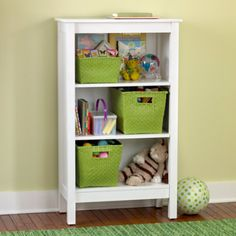 Kids Bookcases: Kids White Simple Bookcase in Furniture Kids Storage Furniture, Small Bedroom Furniture, Basement Furniture, White Furniture, Upcycled Furniture, Furniture Makeover, Simple Furniture, Painted Furniture, Furniture Ideas