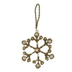 Christmas Decoration Gold Snow Flake with Crystals Ornaments Xmas Set of 4 by ShalinIndia, http://www.amazon.com/dp/B009GD7CCQ/ref=cm_sw_r_pi_dp_s4JGqb1BC6FEA