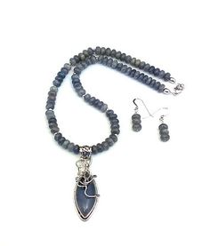 Labradorite Necklace & Earrings by ClassyGemsByCarol on Etsy