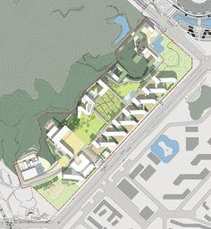 Chinese University of Hong Kong (Shenzhen Campus) Master Plan Winning Proposal,site plan