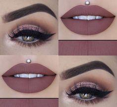 - Make-Up Makeup Eye Looks, Eye Makeup Art, Cute Makeup, Smokey Eye Makeup, Gorgeous Makeup, Eyeshadow Makeup, Lip Makeup, Eyeshadows, Makeup Goals