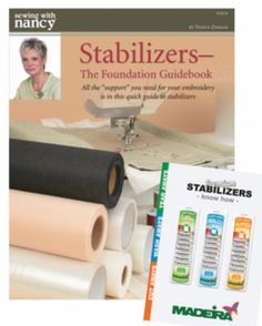 How to choose machine embroidery stabilizers by Nancy Zieman | Sewing With Nancy
