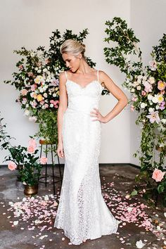 Aubrey is a fit and flare simple wedding dress with sleeves and a V-neck bodice. Could Aubrey be 'the dress' for you? Bridal Dresses, Wedding Gowns, Simple Wedding Dress With Sleeves, Karen Willis Holmes, 2017 Bridal, Princess Wedding, Wedding Beauty, Bridal Style, Archive