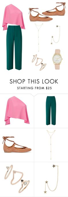 """Green & pink"" by maya2005 ❤ liked on Polyvore featuring Roland Mouret, L.K.Bennett, Chloé, Fragments, Topshop, Zimmermann and Nine West"