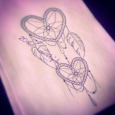 #draw #drawing #design #tattoodraw #tattoodesign #tattooflash #tattoosketch #tattooartist #heartcatcher #heart #dreamcatcher #jewels #ornementaltattoo #feather #romantic