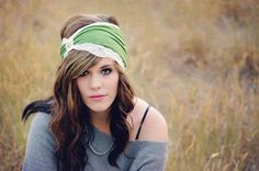 Sage Green and white lace trim Trendy Head wrap by CristaBelasBoutique, $20.00 https://www.etsy.com/listing/114152506/sage-green-and-white-lace-wide-stretchy?ref=shop_home_active