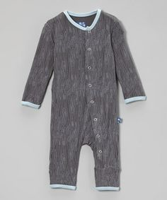 Another great find on #zulily! Stone Woodgrain Playsuit - Infant, Toddler & Boys by KicKee Pants #zulilyfinds