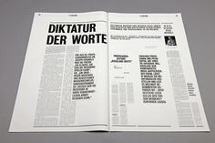 Überzeitung – Eine Liebeserklärung by Wolfgang Landauer, via Behance