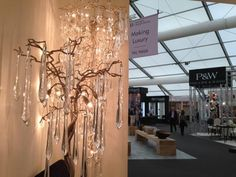 Gorgeous #lighting #design by #Serip Organic Lighting @Decorex_Intl Lovely #elegant drips of #light