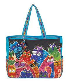 Look what I found on #zulily! Teal Whiskered Family Tote #zulilyfinds