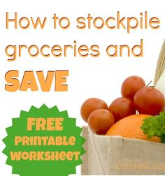 How to Coupon ~ Day Two (What is Stockpiling? Shopping Coupons, Shopping Hacks, Money Tips, Money Saving Tips, Eat On A Budget, Show Me The Money, Extreme Couponing, Coupon Binder, Coupon Organization