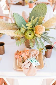 Have You Heard? Cacti Are The New Pineapples In The Wedding Decor World   Brides