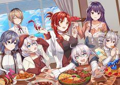 Anime Play, Anime Art, Queen Anime, Cute Anime Coupes, Friend Anime, Food Fantasy, Friends Wallpaper, Anime Scenery, Kawaii Anime Girl