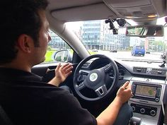 Video on msnbc.com: Watch a car drive itself through crowded city streets in Berlin, and glimpse the future of autos with the EO Smart Connecting Car, a vehicle that shrinks to fit the tightest parking spots, and can join a highway 'road train' for maximum safety and comfort. NBC News' Andy Eckardt reports from Germany.