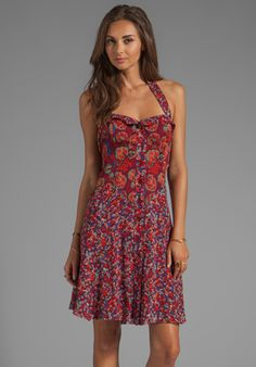 Floral Chiffon Dress - love the colors and the cut