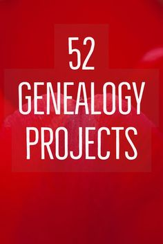 My latest book. Projects (easy ones) to last you all year. I think you'll be surprised at how much genealogy you can get done in just a few minutes a week.