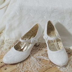 f36a815cf3ea Esta in Ivory - Stunning and different - this Ivory Mary Jane style wedding  shoe is