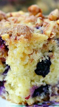 Blueberry Pecan Coffee Cake ~ With juicy blueberries for extra sweetness and pecans for added crunch and flavor this is the ultimate breakfast and coffee cake