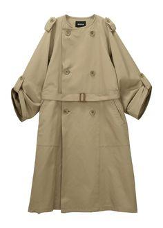 ポリエステル100%<br>バックル部分:牛革 Cardigans, Coats, How To Wear, Jackets, Clothes, Fashion, Down Jackets, Outfits, Moda