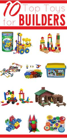 10 top toys for your builder!