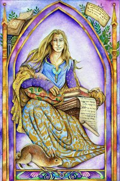 The Poet - Suit Of Scrolls ~ from the Chrysalis Tarot by Holly Sierra
