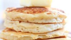Greek yogurt pancakes are delicious, easy, and full of protein to make you feel good about breakfast. Make them in silver dollar pancake size for dipping! Pancake Recipe Easy Fluffy, Best Pancake Recipe, Pancakes Easy, Fluffy Pancakes, Pancake Recipes, Baking Recipes, Greek Yogurt Pancakes, Greek Yogurt Recipes, Coffee Smoothie Recipes