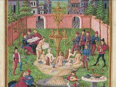 """INFLUSSI DI VENERE: """"Musica e Amore nell'Hortus Deliciarium di Venere"""" - Miniatura dal """"De Sphaera"""", XV sec., Modena, Biblioteca Estense."""