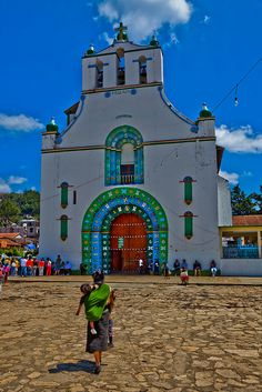 the church of San Juan Chamula, chiapas, mexico by anthony pappone photographer, via Flickr