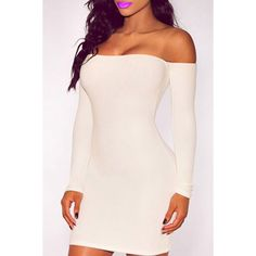Off-The-Shoulder Long Sleeves Bodycon Dress