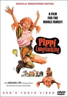Pippi Longstocking, a super-strong redheaded little girl, moves into her father's cottage Villa Villekulla, and has adventures with her next-door neighbors Tommy and Annika in this compilation film of the classic Swedish TV series. https://api.shopstyle.com/action/apiVisitRetailer?id=350365748&pid=uid8100-34415590-43
