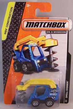 Matchbox Drill Digger Rescue Vehicles, Matchbox Cars, Hot Wheels Cars, Jeep Truck, Diecast Model Cars, Heavy Equipment, Model Trains, Vintage Toys, Arc Reactor