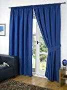 Blackout Thermal Curtains Eyelet Ring Top or Pencil Pleat Free Tie Backs Plain Curtains, Net Curtains, Pleated Curtains, Blue Curtains, Thermal Curtains, Window Curtains, Curtains Ready Made, Design Net, Outfit Sets