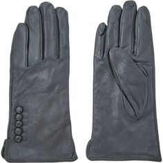 """Penelope Pond"" Grey Leather & Faux Fur Gloves - TK Maxx"