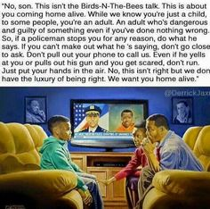 """Not a """"Birds & Bees"""" talk...this is the Black family's """"Make It Home Alive"""" talk!"""
