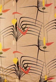 Mid century textile design