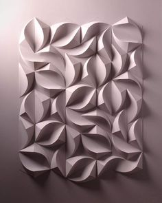 Artist Crafts Incredible Three-Dimensional Paper Sculptures by Hand paper sculpture Paper Artist Engineers Incredible Relief Sculptures Entirely by Hand Origami Paper Art, Paper Crafts, 3d Paper Art, Paper Paper, Paper Architecture, Sculpture Art, Paper Sculptures, Geometric Sculpture, Geometric Tiles