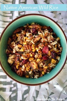 Need a Thanksgiving side dish?  Try warm, savory wild rice inspired by the Native American heritage! #Thanksgivingsidedish
