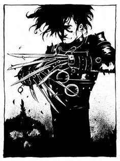 The Art of Mike Henderson: Edward Scissorhands.