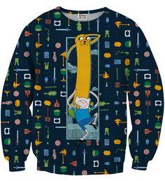 Finn&Jake equipment sweater, Mr. GUGU & Miss GO