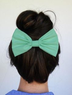 Mint Hair Bow Clip. So adorable with the right outfit.