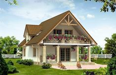 Cottage Style House Plans, Lake House Plans, Duplex House Plans, Modern House Plans, Wood House Design, Village House Design, Village Houses, Modern House Design, Two Storey House Plans