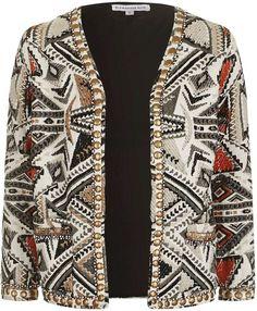 **Jacquard Blazer Jacket by Glamorous Petites