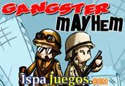 Juego de Gangster Mayhem | JUEGOS GRATIS:  un juego donde tienes que llevar a tu ejercito y buscar mas elementos que están atrapados en este mundo extraño, dispara a los enemigos que encuentres y no dudes en atacar