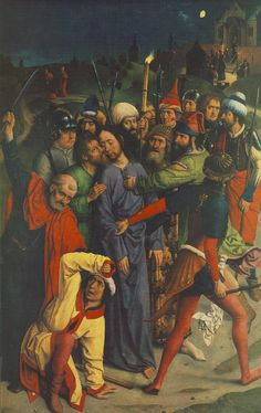 Dieric Bouts - The Arrest of Christ with kiss of Judas and ear of Malchus ca1485 - Arrest of Jesus - Wikipedia, the free encyclopedia