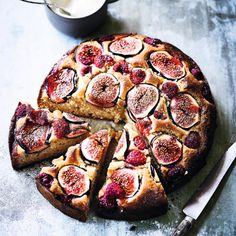 Diana Henry's fig, raspberry, hazelnut & honey cake