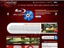 Layout de Site Criado para a Empresa de Duplicação Ponto4 Digital #criative #sites #criacaodesites #duplicacao #agencia www.visiondesign.com.br