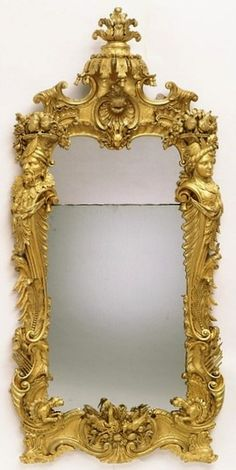 Mirror Place of origin: London, England (made) Date: ca. 1745 (made) Artist/Maker: lock, m, born 1705 - died 1765 (designer and maker) Materials and Techniques: Carved and gilded pine Metal Mirror, Floor Mirror, Mirror Mirror, Baroque Decor, Mirrored Picture Frames, E Piano, Old Mirrors, Beautiful Mirrors, Antique Frames