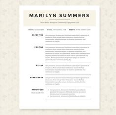 cool classic resume template package - Linkedin Resumes
