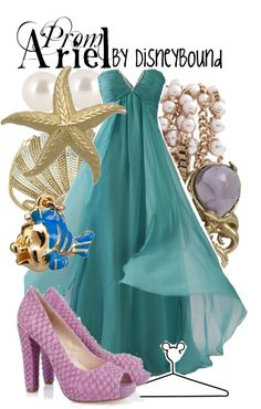 """Ariel"" by lalakay on Polyvore. I may be too young for the prom yet, but I want this dress!"